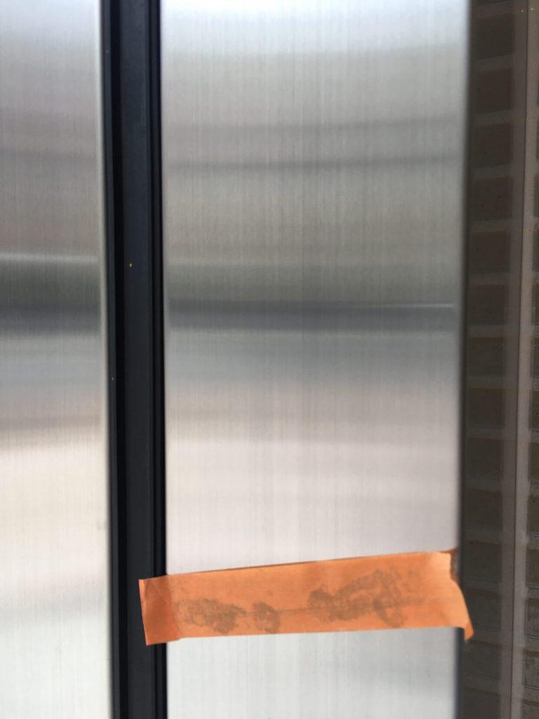 自動ドア 枠キズ補修