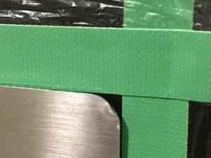 ステンレスプレート角曲がり補修