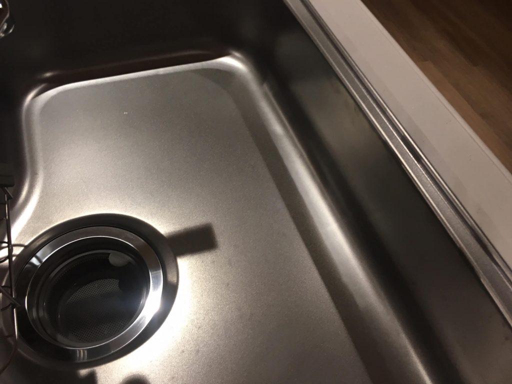 キッチンシンクの凸傷補修