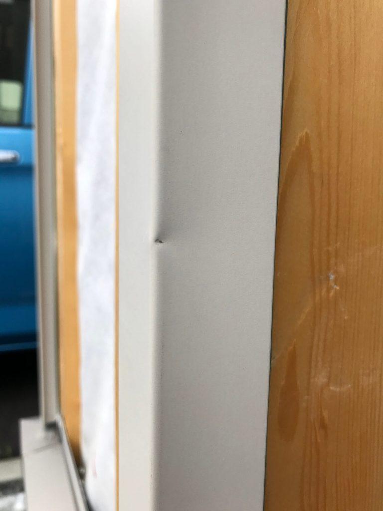 コーナー金物凹み修理
