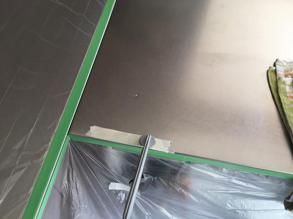 キッチン天板凸凹補修