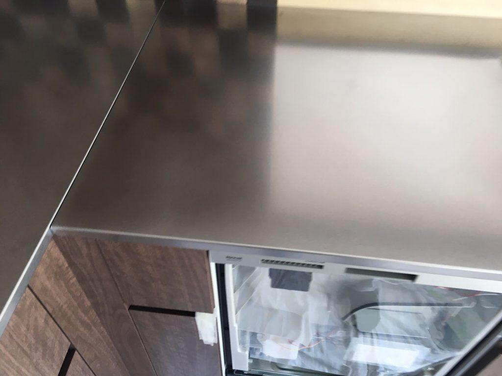 キッチン天板凸凹修理