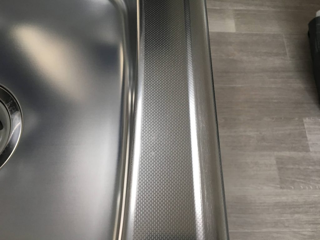 キッチン天板の凹み傷補修