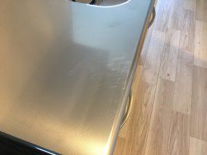 エンボスキッチン天板のキズ補修