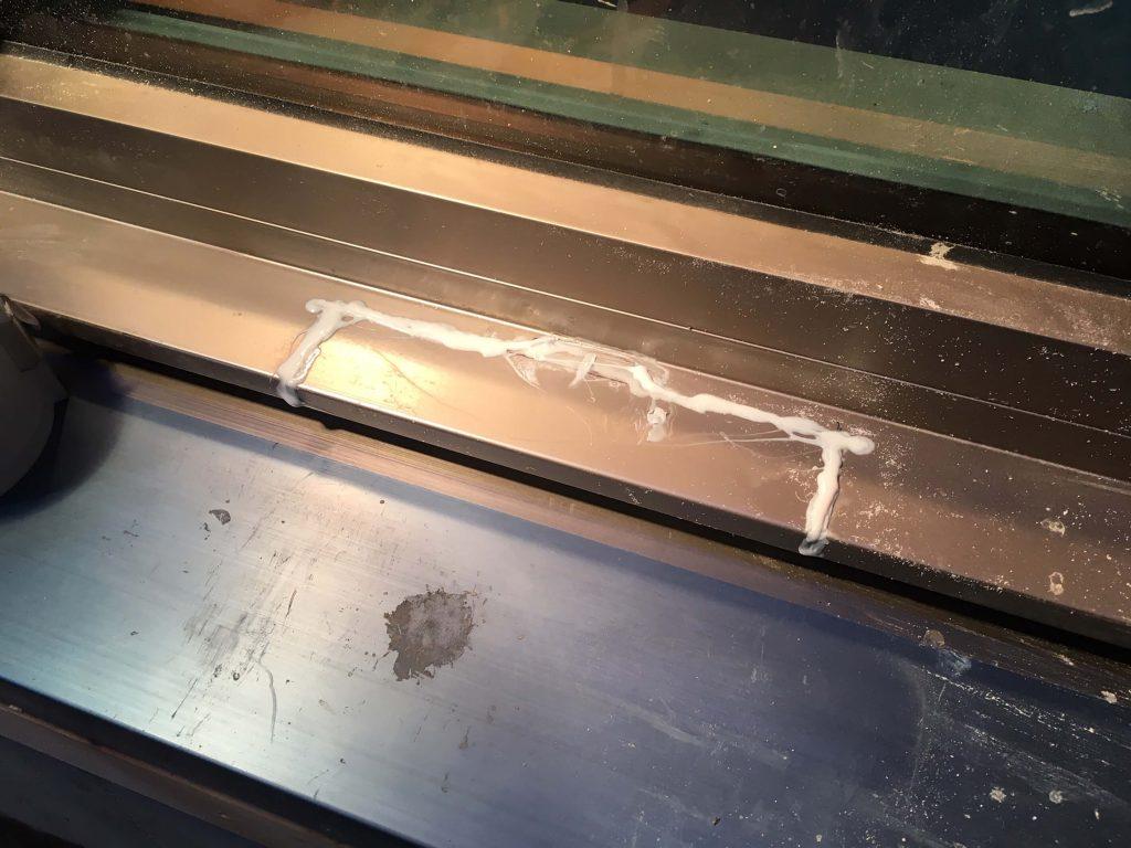 トステム製樹脂サッシの修復