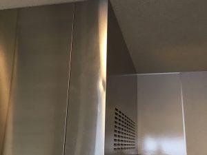 レンジフード幕板凹み修理