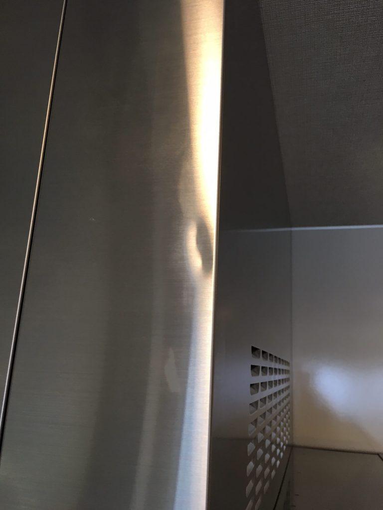 レンジフード幕板の凹み補修