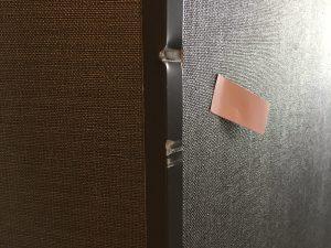 エレベータホールコーナー見切り金物アルミ製アングル曲がり補修