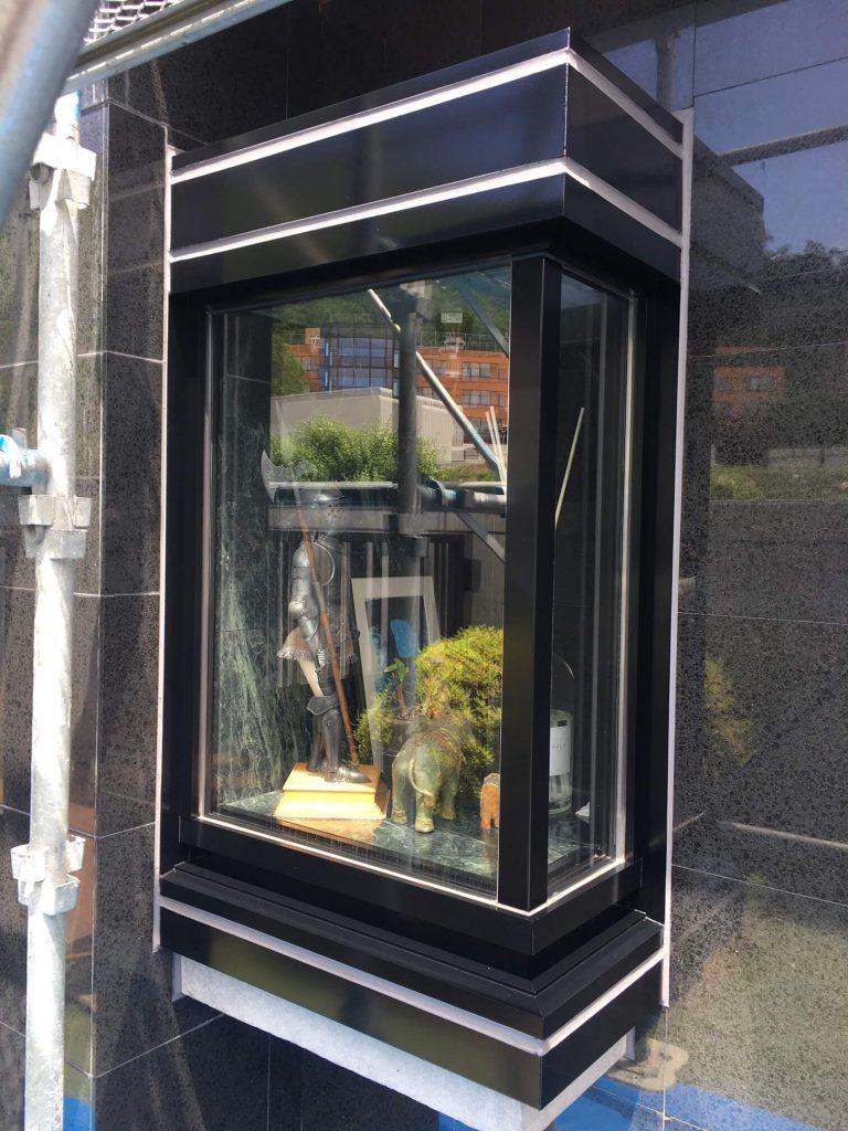 アルミ出窓フィックスサッシ塗装
